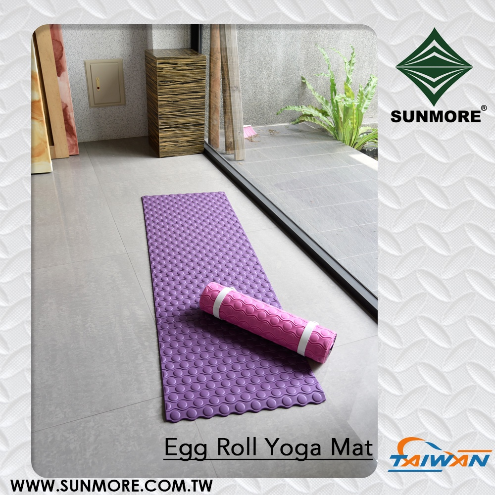egg rolls style taiwan wholesale yoga mats cheap with designs