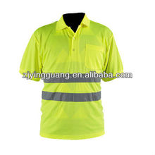 High Visibility Reflective Safety Polo Shirt Conforms to EN471 Class2,ANSI/ISEA
