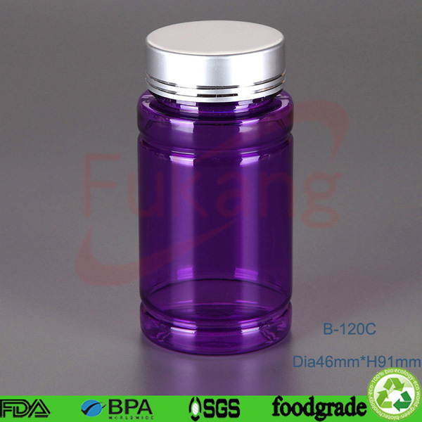 Plastic PET pill storage container pharmaceutical bottle