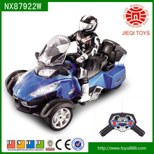 Top selling product 27 MHZ 1:8 4CH RC motorcycle toy with light without battery for kids