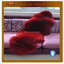 High quality fashion style long hair sheepskin rug