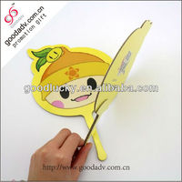 Beautiful marketing advertising specialty colorful paper fan wholesale