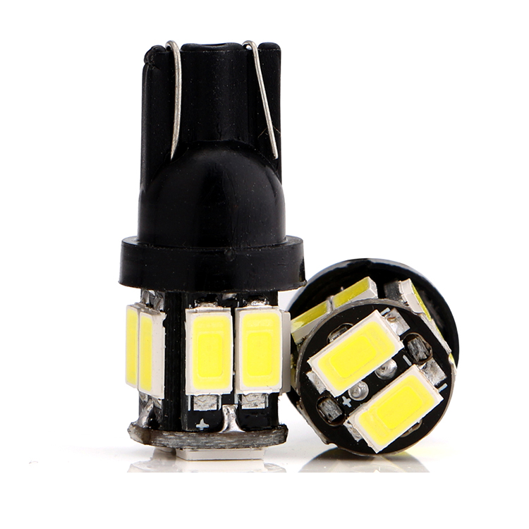 12V 5630 10smd side width led car light interior door lamp w5w T10 led indicator bulb