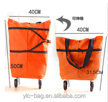Stylish Funky Strong Folding Metal Frame Wheels 40L Shopping Trolley Bag 2 wheels shipping bag