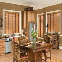 wooden taped venetian blinds for home decor