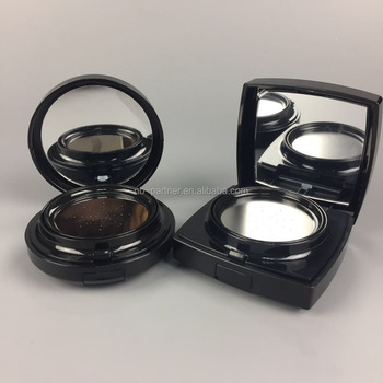 2017 New design Airless type metal empty air cushion bb foundation compact powder case with puff