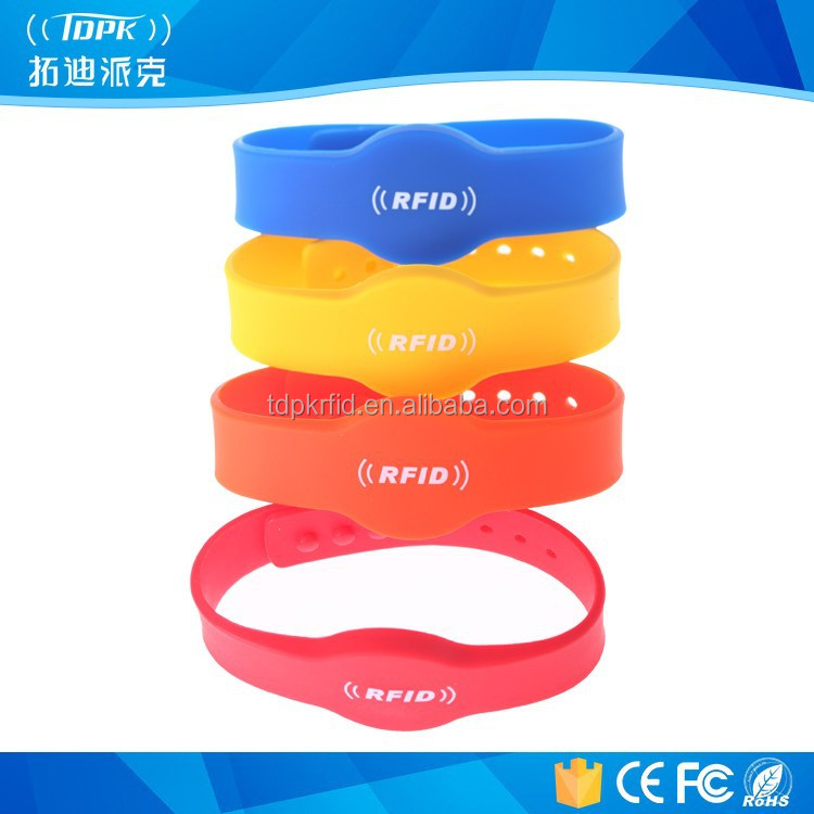 blue multi-functional rfid nfc adjustable silicon wristband