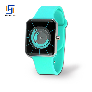 Fashion Simple Silicone Sport Watches For Ladies