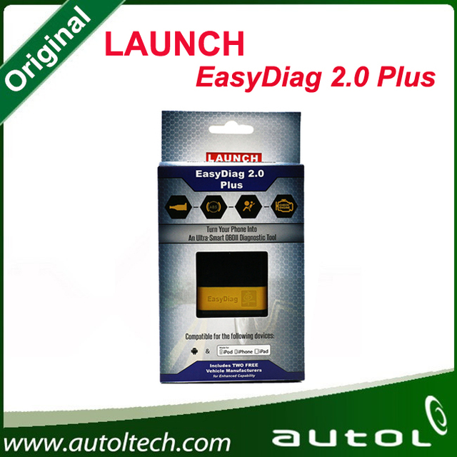 Launch X431 EasyDiag plus 2.0 OBDII Code Reader Scanner for Android ios easy diag with 2 Free Car Software