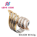 High quality fashion stainless steel S shaped rings jewellery