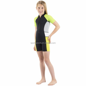 2mm UV Protective Colorful Thermal Swim Suits Shorty for kids