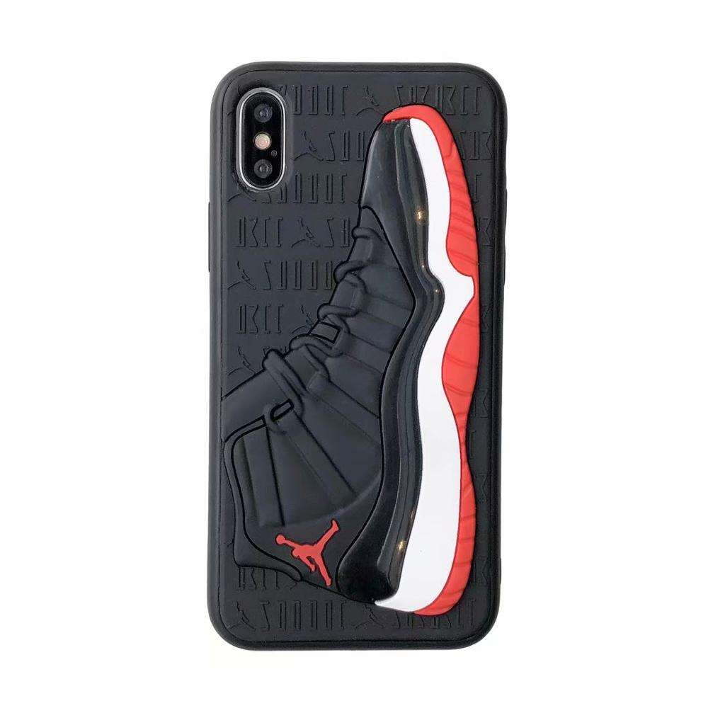 Fashion 3D NBA Air Dunk Jordan Sports Basketball Shoes Soft Phone Cases For iphone 6 6S 7 8 Plus X XS XR <strong>MAX</strong> 10 Back Cover Case