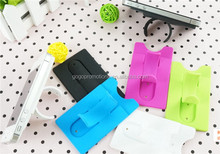Snap Stand Silicone Smart Card Holder Wallet 3m Sticky for Mobile Phone,cellphone silicone credit card holder with phone stand