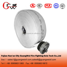 Double jacket used fire hose fabric with couplings for fire hose cabinet