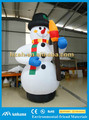 Giant Inflatable Snowman with Broom for Festival Decoration