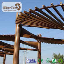 100% recycling wood plastic composited solid wood pergola