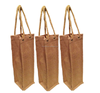 Strong One Bottle Jute Yarn Tote Bag With Rope Handle Eco-Friendly Bottle Jute Bag New