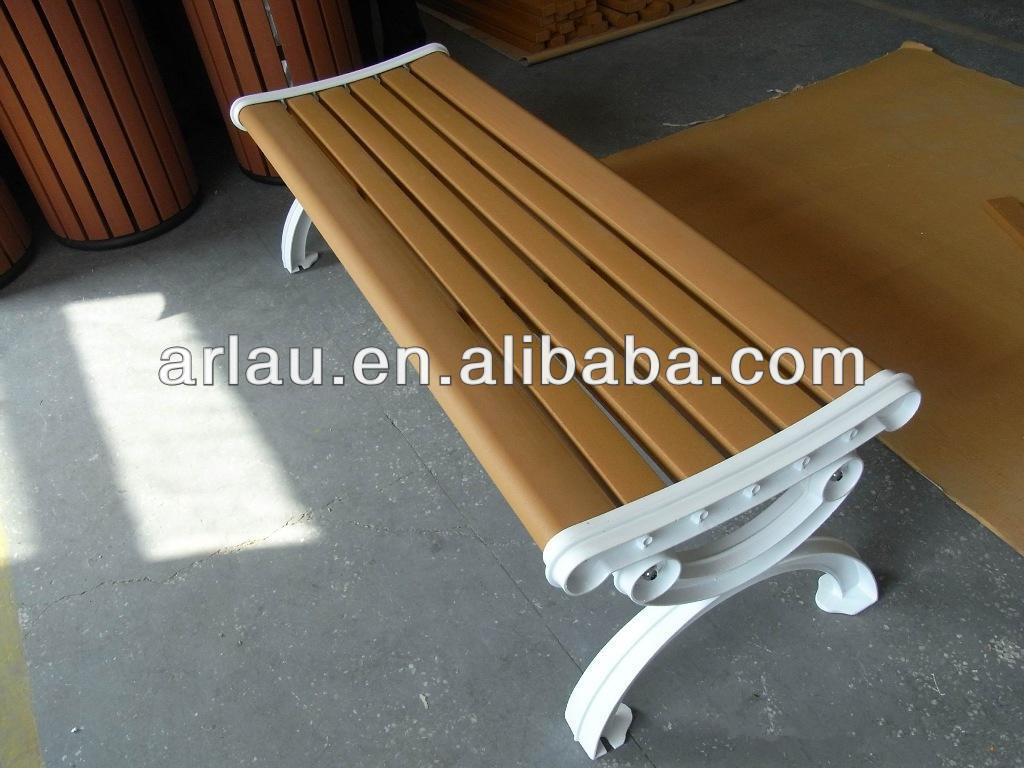backless exterior antigas de ferro fundido perna banco de madeira cadeira fw23