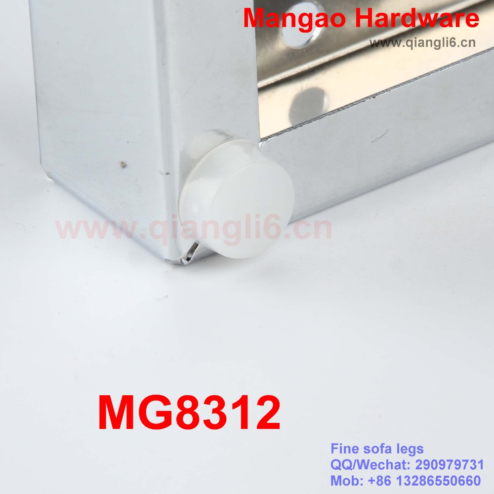 MG8312 new design chrome cheap Iron sofa legs for furniture 2015