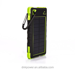 free sample 2016 8000mah mobile phone solar power bank charger