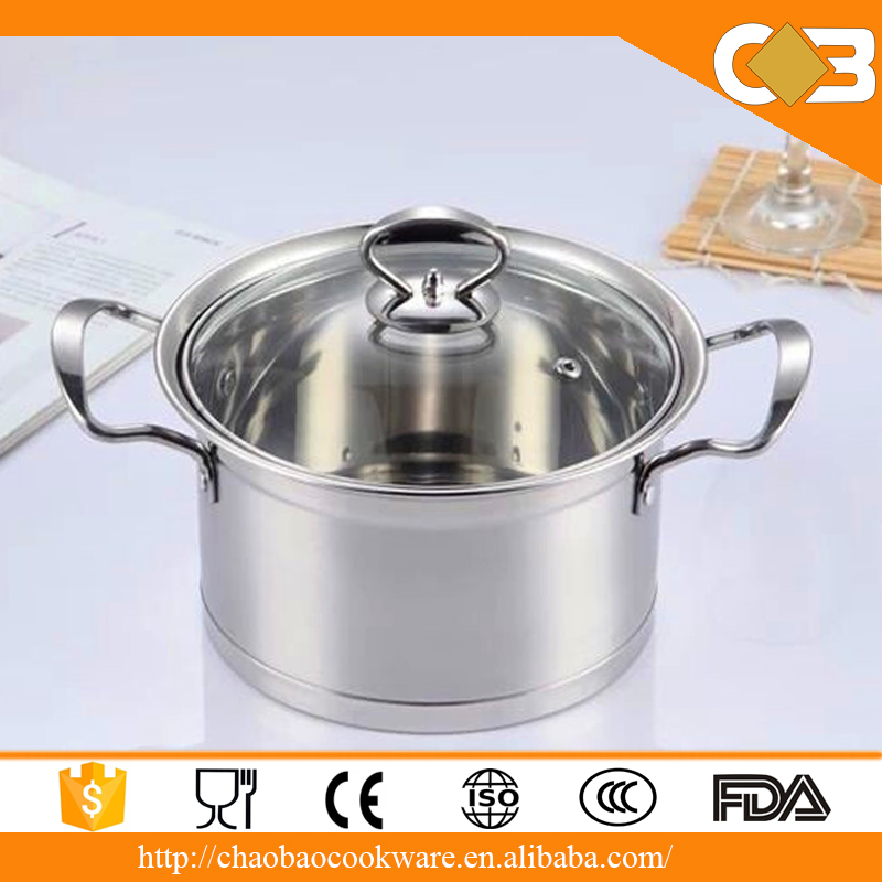 High quality capsulated induction bottom of cookware stainless steel casserole pot