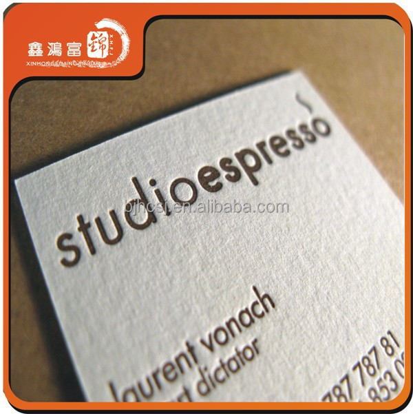 Manufacturer Letterpress Business Cards Printing