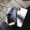 Luxury Soft Edge Tempered Glass Back Case for IPhone X Phone Cases for IPhone 10 8 Plus Silicone Shockproof Case