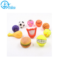 Wholesale pet dog latex squeaky toy vinyl toys ball for dog playing