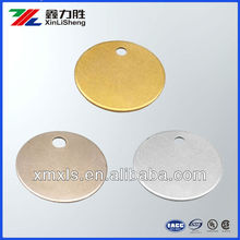 Blank Round Brass/Stainless Streel/Aluminum Disc Key Tags