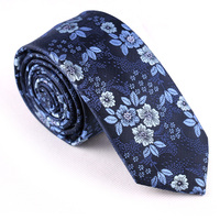 2016 high quality 100% polyester embroidered flower neckwear