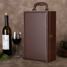 Factory price liquor bottle leather wine carrier