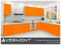 Warm Orange Hign Gloss Lacquer Kitchen Cabinet