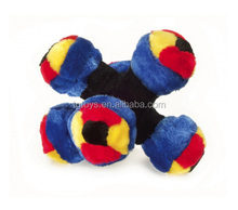 Dog love toys mix color six balls combined plush dog toys