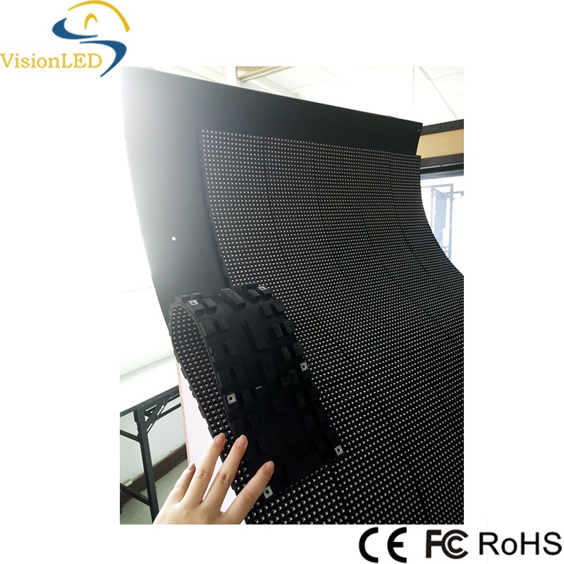 shenzhen New Design Full Color Flexible LED Display Screen Flexible Sign With CE