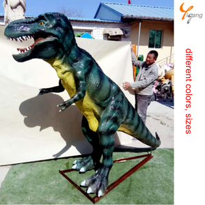 Outdoor Playground Equipment Life-size Fiberglass Sculpture dinosaur Stegosaurus