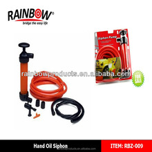 RBZ-009 manual plastic hand siphon bicycle pump