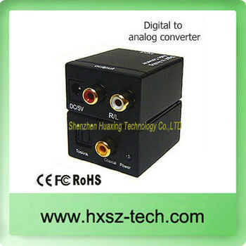 audio digital to analog audio converter (DAC 5.1)/digital to analog tv converter box
