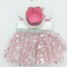 High quality alstic baby girls tutu dress crown headband for party decoration