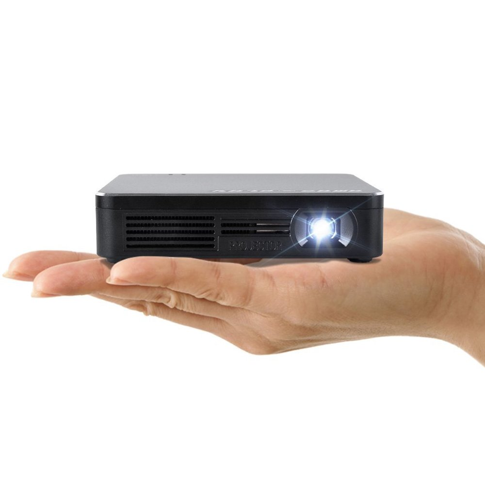 Android Mini Projector HD 1080P 3d 80Lumens Short Throw Projector Projector full HD for iPhone Samsung Galaxy S6
