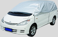 promotion silver insulated half car cover, car front cover, L, XL