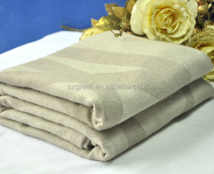 modacrylic jacquard woven wool airline blankets