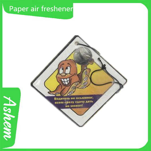 New arrival high quality paper freshener hot car paper fragrance card with customized design, DL421