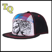 denim snapback cap, factory snap back full print hat, back label snapback