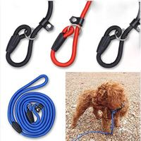 1pc Dog Puppy Cat Adjustable Nylon Harness with Lead leash Pet Training Fleible Harness P Chain Rope Strong Nylon