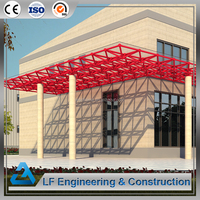 Steel structure two story building space frame canopy