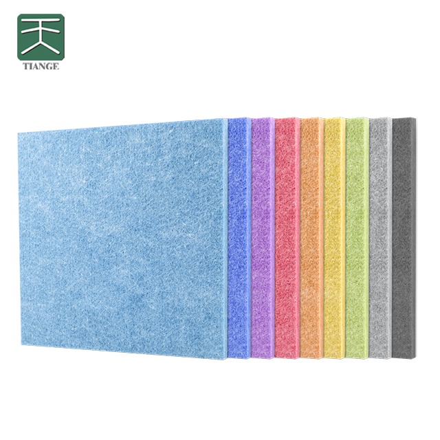 TianGe Factory CE/BV High Density Acoustic Foam Sound Absorption Material Polyester Fiber Pet Acoustic <strong>Panels</strong>