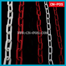 connected plastic twisted link chain for holding to hang