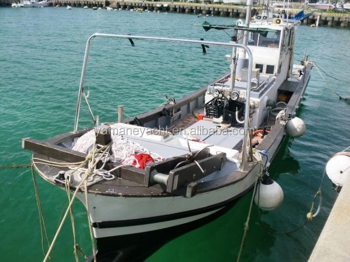 Japan used fiberglass diesel engine fishing boat cheap for Used fishing boat