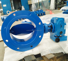 DN250 flug gas butterfly valve with electric actuator