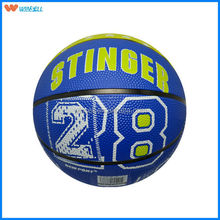 Hot sale synthetic cheap sport rubber basketball 7 weight 600g